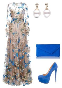 A fashion look from March 2017 featuring long sleeve dress, blue pumps and suede purse. Browse and shop related looks. Polyvore Outfits, Komplette Outfits, Fashion Outfits, Womens Fashion, Couture Mode, Couture Fashion, Elegantes Outfit, Mode Chic, Vintage Style Outfits