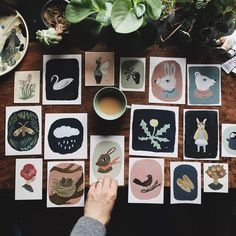 "4,377 mentions J'aime, 80 commentaires - Gemma Koomen (Gemma Koomen | Illustration) sur Instagram : ""I sorted through these tiny original paintings and I'm happy to let go of them for sale. It feels a…"""