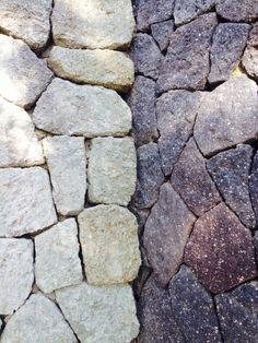 Black & White lava stones