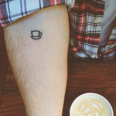 "James' coffee #tattoo: ""We drink coffee in pursuit of conversation, friendship, exploration, and invention. It brings us together by introducing us to new faces, and reuniting us with familiar ones. Oftentimes, it even introduces us to ourselves..."""
