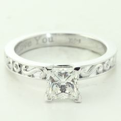 Solitaire Diamond Antique Engagement Ring In Prong Setting