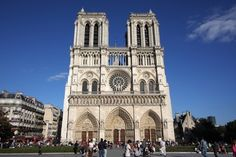 Notre Dame cathedral, Paris, France.  Amazing place to see in person!