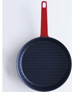 "Cast Iron Cookware, Red Exterior/Black Interior, 10.5"" Dia"