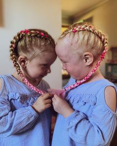 Day 63 💗 How cute are these little girls! Book in to get your own set today, limited spots and hair available. Two Dutch Braids, Two Braids, Tumeric Hair, Braiding Your Own Hair, Unicorn Hair, Cute Beauty, Mermaid Hair, Love Hair, Little Girls