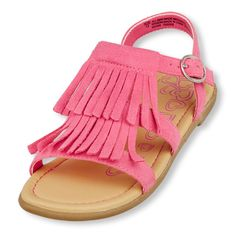 Complete her boho look with this fun fringed sandal!