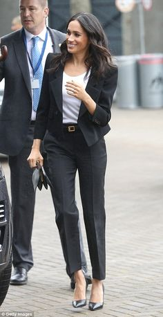 Make like Meghan in a midi dress by Roland Mouret #DailyMail #meghanmarkle #DUCHESSOFSUSSEX #ROYALSTYLE