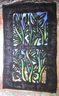 Great instructions! Teri Berry Creations: Stained Glass Felt Hanging