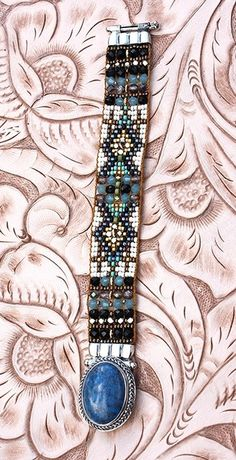 Chili Rose beaded bracelet - Chili Rose bracelets, beaded cuffs, Adonnah Langer, Beadz, cuffs http://www.cowgirlkim.com/exquisite-turquoise-chili-rose-beaded-bracelet-9721.html