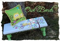 Beautiful painted bench