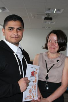 Bilal, a very special volunteer who came to us BEFORE his GCSEs - what a star, what a guy!