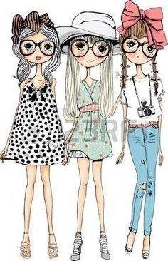 three women illustration, Drawing Girl Woman Illustration, Three cartoon girls transparent background PNG clipart Source by agcpdx bags illustration Fashion Illustration Sketches, Woman Illustration, Fashion Sketches, Cartoon Drawings, Cute Drawings, Sister Cards, Outdoor Fotografie, Cute Cartoon Girl, Art Nouveau Design