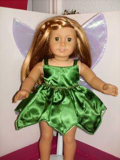 18 inch American Girl Doll Green Tinkerbell by DollClothesbyAvola, $24.00