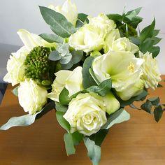Bouquet vert et blanc - Aquarelle.com