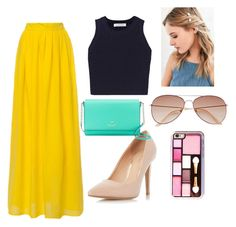 """Crazy colors"" by ilianasofia ❤ liked on Polyvore featuring Elizabeth and James, Dorothy Perkins, Kate Spade, Urban Outfitters and H&M"