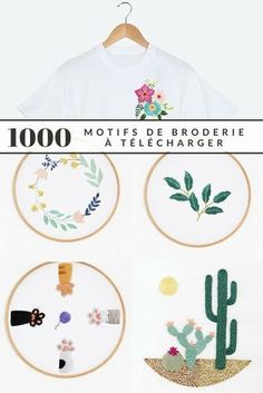 Embroidery 1000 free patterns to embroider like a professional 1000 embroidery designs to obtain totally free – Marie Claire Idées Floral Embroidery Patterns, Hand Embroidery Stitches, Embroidery Hoop Art, Hand Embroidery Designs, Vintage Embroidery, Ribbon Embroidery, Embroidery Sampler, Quilt Patterns, Handmade Home