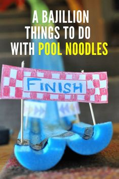 A bajillion things to do with pool noodles.  via @rookiemoms