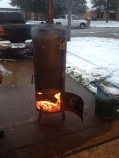 Meat smoker made from our old hot water heater, works awesome! I can make you one for $500