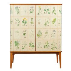 Floral Cabinet | From a unique collection of antique and modern cabinets at https://www.1stdibs.com/furniture/storage-case-pieces/cabinets/