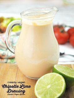 Creamy Vegan Chipotle Lime Dressing (vegan, gluten-free, dairy-free) >> Dianne's Vegan Kitchen