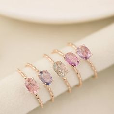 Items similar to Unheated natural lavender sapphire engagement ring in gold, rose gold, white gold, Oval unheated light ~ dark purple sapphire ring on Etsy Green Sapphire Ring, Natural Sapphire Rings, Cute Jewelry, Bridal Jewelry, Jewelry Accessories, Ring Set, Ring Verlobung, Diamond Wedding Bands, Wedding Rings