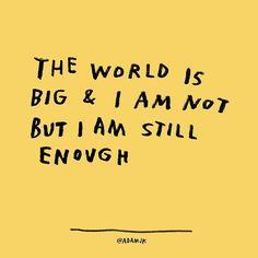 I am still.