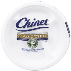 """Chinet Classic White Compartment Plate, 10 3/8""""-32 ct by Chinet. $7.75. Chinet Classic White Compartment Plate, 10 3/8-32 ctChinet Classic White molded fiber plates and bowls have a heritage of bringing strength and durability to the table when it comes to any occasion.Trusted by consumers, Chinet is the leading premium-strength disposable tableware line that's not only microwaveable, but also made from recycled material and biodegradable in home composting.Perfect ..."""