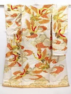 Kimono Dress Japan Vintage Uchikake  Wedding dress used silk Hanayome