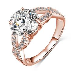 AAA CZ Cubic Zirconia Engagement Rings For Women Gold Color Wedding Rings Female Anillos Anel Austria Crystal Jewelry Bijoux