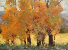 Autumn in Woodland Oil Painting Trees, Autumn Painting, Fall Paintings, Landscape Artwork, Tree Leaves, Oeuvre D'art, Les Oeuvres, Illustration Art, Illustrations