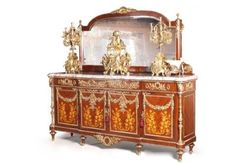 - Louis xv style display case / glass / wooden by LouisXV Antique Dining Rooms, Antique Beds, Antique Furniture, Dining Set, Dining Chairs, Dining Table, China Buffet, French Country Dining Room, Wardrobe Cabinets