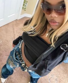 00s Mode, Swag Outfits, Fashion Outfits, Swag Girl Style, Pretty Girl Swag, Mode Ootd, Look Girl, Black Girl Aesthetic, 2000s Fashion