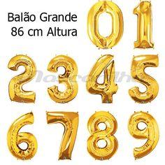 Balão NUMEROS Foil Dourados