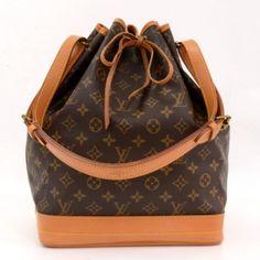 Louis Vuitton Vintage Brown Monogram Canvas Noe Shoulder Bag
