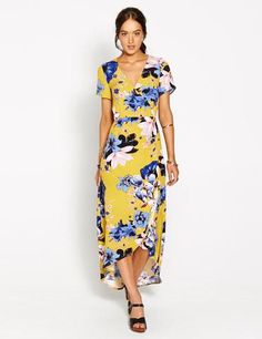 Lilly Wrap Over Floral Dress