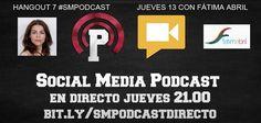 Este jueves día 13 de diciembre de 2012 en el hangout semanal en directo, tendremos a Fátima Martín Abril que nos hablará de comunicación, formación y coaching entre otros temas. ¡¡Es posible que sea el último directo del año!!