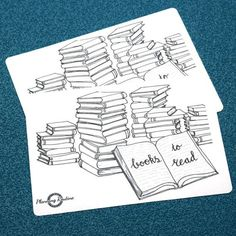 Which books do you want to read? To remember all the books, write the name and author down on one of the stacked books. Color every book you've read and create a colorful page! The stickers are the perfect size for A5 and A4 notebooks.