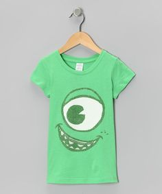 Take a look at this Lime Monsters Inc. Eye Tee - Girls by Monsters University on #zulily today!