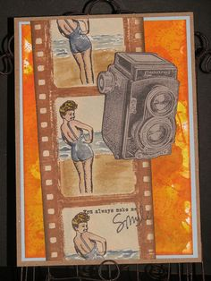 Betty Rubber Stamp and Vintage Photo Frame Rubber Stamp Set