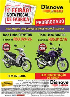 Anúncio Feirão NF de Fábrica Prorrogado Agência: 3Pontos Comunicação Cliente:Disnove Yamaha Campanha: Varejo Título: Feirão NF de Fábrica Prorrogado Peça: Anúncio de jornal