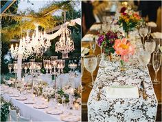 Unique Hanging Lantern Wedding Reception Decor Details