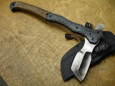 gunsknivesgear:  American Kami Type 4 Tomahawk. 17.5 inches overall length, 1095 carbon steel.