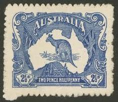 australia unissued reject first kangooro stamp