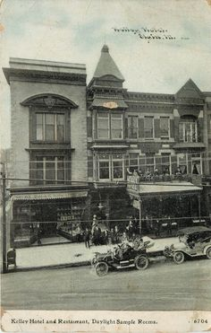 Elgin IL~Zook's Books~Kelley Hotel~People on Balcony~Daylight Sample Rooms~c1910 Elgin Illinois, Fly On The Wall, Local History, Once In A Lifetime, Back In Time, Vintage Photography, The Locals, Worlds Largest, Postcards