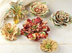 Kit de Falsificação Desafio: Tutorial - Floral Vines e Rosas de mini primas e hortênsias