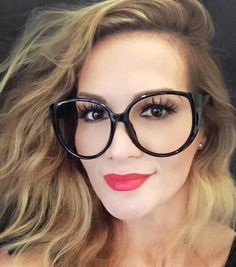 bcec0dde9d Oversized Large Big Round Cat Eye Clear Lens BOHO Style Nerd Glasses Frames  XL