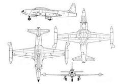 Lockheed T-33A Thunderbird Free Aircraft Paper Model Download