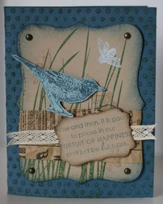 Blissful Blue Bird by Cholstead - Cards and Paper Crafts at Splitcoaststampers