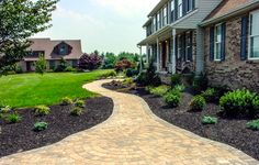 Beautiful front yard landscaping ideas and driveway design