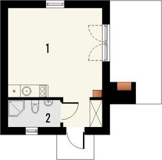 DOM.PL™ - Projekt domu KR DOMEK 6 CE - DOM KR5-83 - gotowy koszt budowy Projects To Try, Floor Plans, Facades, Commercial, House Ideas, Houses, Small Apartment Plans, Facade, Floor Plan Drawing