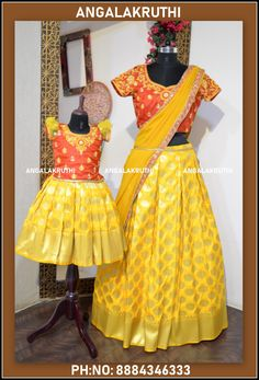Mother and daughter matching dress designs mom and me dress designs mother daughter dresses boutique bangalore mother daughter same dress online shopping mother and daughter dresses mother daughter matching outfits stores best place to buy ethnic wear in bangalore angalakruthi boutique bengaluru, karnataka mother daughter dresses for birthday in bangalore mother daughter matching clothes india Mom Daughter Matching Dresses, Mom And Baby Dresses, Mother Daughter Outfits, Dresses Kids Girl, Matching Family Outfits, Matching Clothes, Kids Blouse Designs, Dress Designs, Kids Ethnic Wear